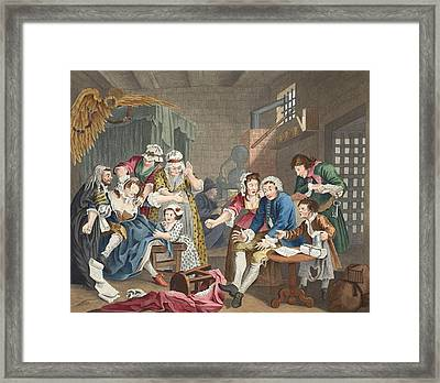 The Rake In Prison, Plate Vii, From A Framed Print