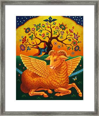 The Ram With The Golden Fleece, 2011 Oils And Tempera On Panel Framed Print