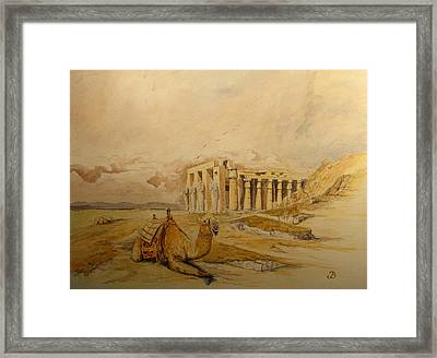 The Ramesseum Theban Necropolis Egypt Framed Print by Juan  Bosco