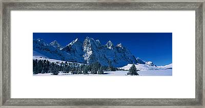 The Ramparts Tonquin Valley Jasper Framed Print by Panoramic Images
