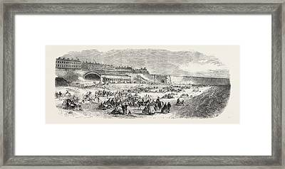 The Ramsgate Station Of The East Kent London Framed Print by English School