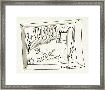 The Rance River In France Framed Print by Ludwig Bemelmans