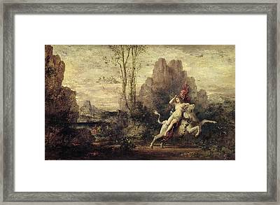 The Rape Of Europa Framed Print by Gustave Moreau