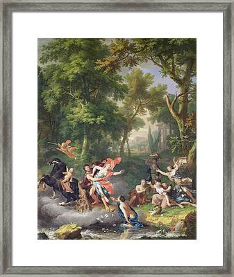 The Rape Of Proserpine Framed Print by Jan van Huysum
