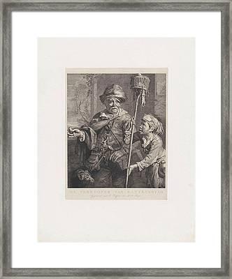 The Rat Catcher With His Servant, Dirk Jurriaan Sluyter Framed Print by Dirk Jurriaan Sluyter