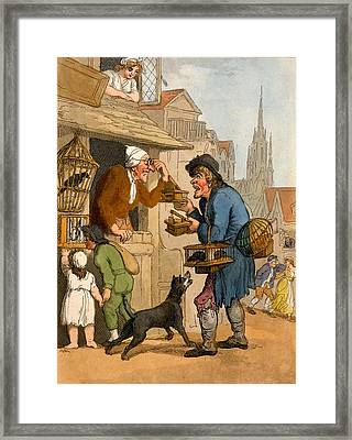 The Rat Trap Seller From Cries Framed Print by Thomas Rowlandson