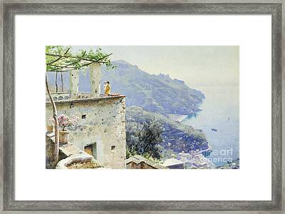 The Ravello Coastline Framed Print by Peder Monsted