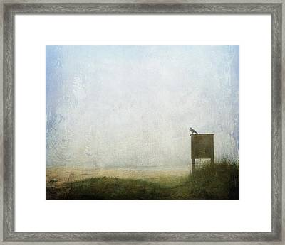 The Raven And The Beach Framed Print