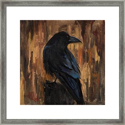 The Raven Framed Print by Billie Colson