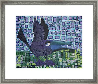 Framed Print featuring the painting The Raven by Donna Howard