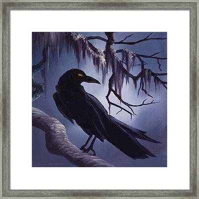 The Raven Framed Print by James Christopher Hill