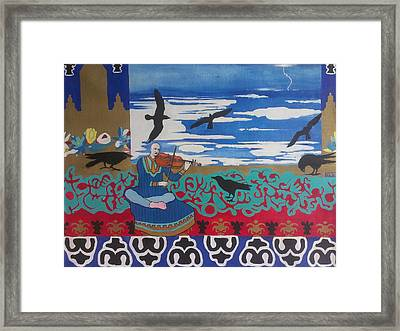 The Raven Musicologist Framed Print by Karim Lachheb