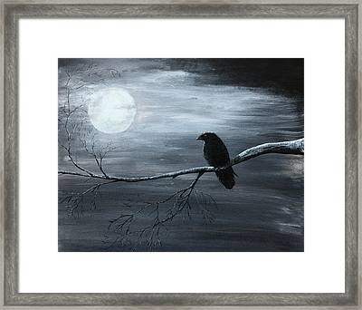 The Raven Piece 2 Of 2 Framed Print
