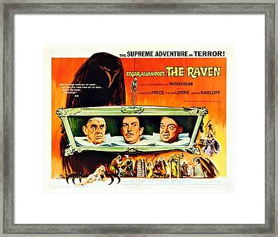 The Raven, Us Lobbycard, From Left Framed Print