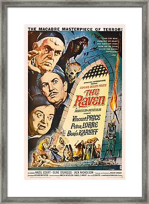 The Raven Vintage Movie Poster Framed Print by Mountain Dreams