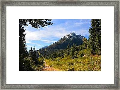 The Rd To Nowhere Again   Framed Print