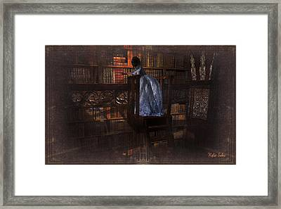 The Reader 07013101 - By Kylie Sabra Framed Print by Kylie Sabra
