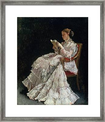 The Reader, C.1860 Framed Print by Alfred Emile Stevens