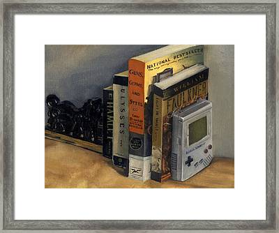 The Reading List Framed Print by Rick Liebenow