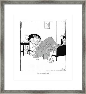 The Reading Public Another Case ?nished Framed Print by Gluyas Williams