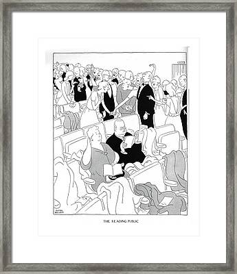 The Reading Public Equally Appropriate For Wear Framed Print by Gluyas Williams