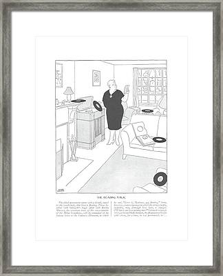The Reading Public  The Third Movement Opens Framed Print by Gluyas Williams