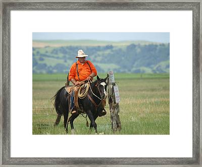 The Real Cowboy Framed Print