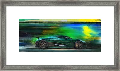 The Real Green Monster Framed Print