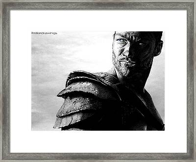 The Real Spartacus Andy Whitfield Framed Print by Mike Sarda