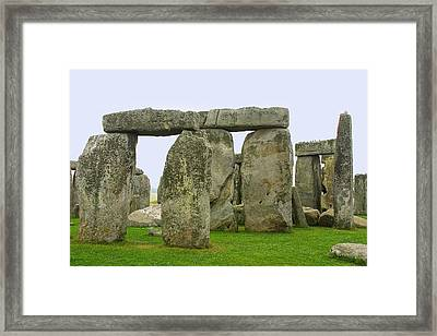 The Real Stonehenge Framed Print by Linda Phelps