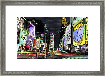 The Real Time Square Framed Print by Mike McGlothlen