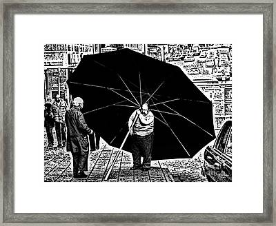 The Really Big Umbrella Framed Print by Jeff Breiman