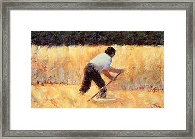 The Reaper Framed Print by Georges Seurat