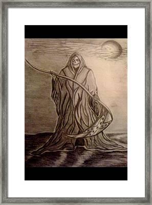 The Reaper Framed Print by Kolene Parliman