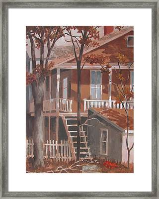 Framed Print featuring the painting The Rear End by Tony Caviston
