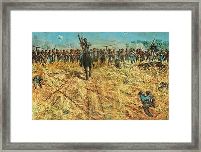 The Rebel Charge Framed Print by Mountain Dreams