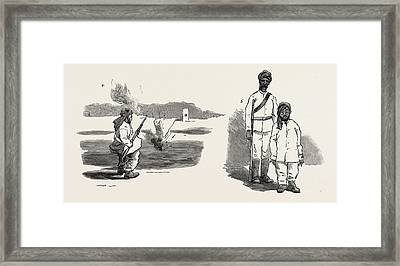 The Rebellion In The Soudan Sudan The Material With Which Framed Print by English School