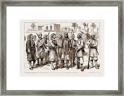 The Rebellion In The Sudan, 1883 Some Types Framed Print by Litz Collection