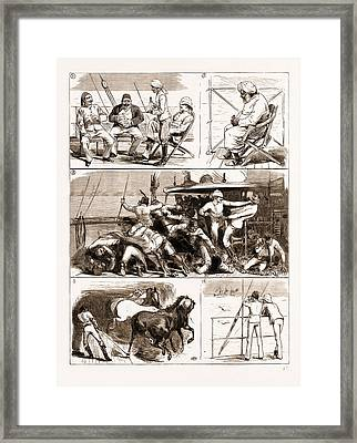 The Rebellion In The Sudan, With Baker Pashas Framed Print by Litz Collection