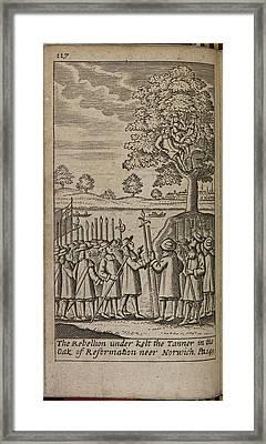 The Rebellion Under Kett The Tanner Framed Print
