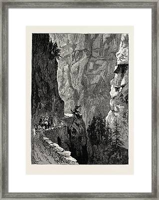 The Recent Accident In The Albula Pass, Switzerland Framed Print by Swiss School