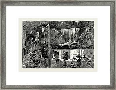 The Recent Disastrous Floods At Hong Kong Framed Print by Litz Collection