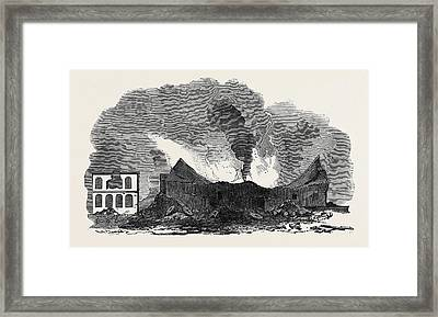 The Recent Fire At San Francisco Framed Print