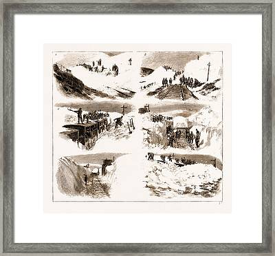 The Recent Great Snow Storm In Scotland, Scenes Framed Print