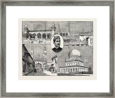 The Recent Installation Of The Nizam Of Hyderabad India 1 Framed Print