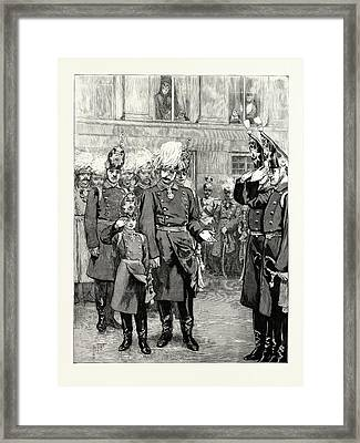 The Reception Of The Crown Prince Of Prussia Into The First Framed Print