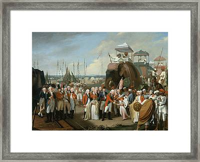 The Reception Of The Mysorean Hostage Framed Print by Robert Home