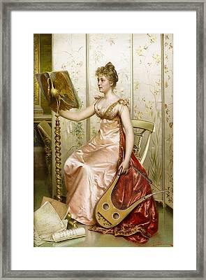 The Recital Framed Print by Frederick Soulacroix