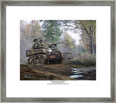 The Reconnaissance Party Framed Print by Mark Karvon