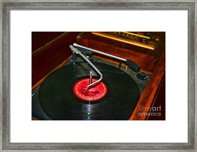 The Record Player Framed Print by Paul Ward
